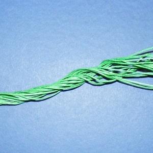 Viaszos szál-16 (5 db/csomag) - zöld - gyöngy, ékszerkellék - Meska.hu