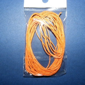 Viaszos szál-5 (5 db/csomag) - narancssárga, Gyöngy, ékszerkellék, Ékszerkészítés,  Viaszos szál-5 - narancssárga  Színes, viaszos zsinór Mérete (1 db): 1 mm vastag/80 cm hosszú  Ny..., Alkotók boltja