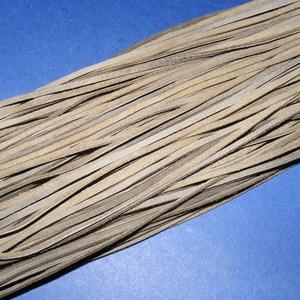 Bőrszíj - 2x1 mm (110. minta/1 db) - olajzöld, Vegyes alapanyag, Egyéb alapanyag,  Bőrszíj (110. minta) - olajzöldValódi, puha hasított marhabőrből készült.Nyaklánc alapokhoz és foná..., Meska