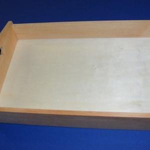Fa füles tálca (30x20x5 cm/1 db), Fa,  Fa füles tálca  Mérete: 30x20x5 cm (a fogantyúnál 7,5 cm)Anyaga: natúr fa  Az ár 1 db termékre vona..., Meska