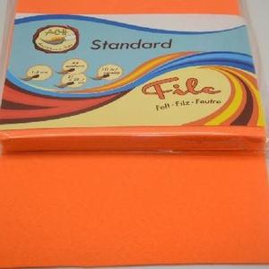 Dekorfilc (2 mm/puha) - narancssárga (csimbo) - Meska.hu
