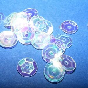 Flitter-1 (3 g/csomag) - irizáló kristály (kerek), Gyöngy, ékszerkellék, Varrás, \nFlitter-1 - kristály - kerek - irizáló\n\nMérete: Ø 6-7 mmA furat mérete: 1 mm\n\nKiszerelés: 3 g (kb...., Meska