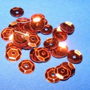 Flitter-8 (3 g/csomag) - bronz (kerek), Gyöngy, ékszerkellék, Varrás, \nFlitter-8 - bronz - kerek\n\nMérete: Ø 6-7 mmA furat mérete: 1 mm\n\nKiszerelés: 3 g (kb. 210 db)\nTöbb..., Meska