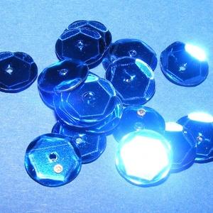 Flitter-10 (3 g/csomag) - kék (kerek), Gyöngy, ékszerkellék, Varrás, \nFlitter-10 - kék - kerek\n\nMérete: Ø 6-7 mmA furat mérete: 1 mm\n\nKiszerelés: 3 g (kb. 210 db)\nTöbbf..., Meska