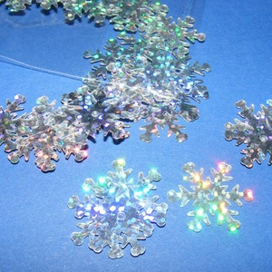 Flitter-31 (3 g/csomag) - hologramos ezüst (hópehely) (csimbo) - Meska.hu