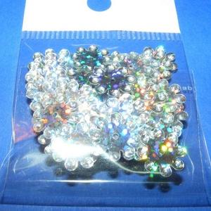 Flitter-38 (3 g/csomag) - hologramos ezüst (virág) (csimbo) - Meska.hu