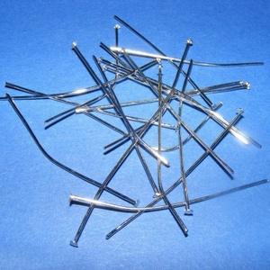 Szerelőpálca (1053. minta/20 db) - 50 mm, Gyöngy, ékszerkellék, Ékszerkészítés,  Szerelőpálca (1053. minta) - nikkel színben - talpas  Mérete: 50 mm Az ár 20 db termékre vonatkoz..., Alkotók boltja