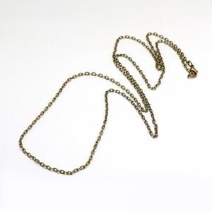 Szerelt lánc (2. minta/1 db) - 4x3x1 mm x 78 cm - Meska.hu