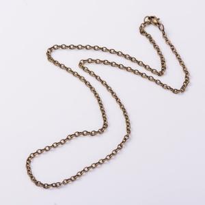Szerelt lánc (12. minta/1 db) - 3x4x0,7 mm x 63 cm - Meska.hu