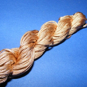 Színes zsinór - 2 mm (ZS19. minta/12 m) - aranybarna (csimbo) - Meska.hu