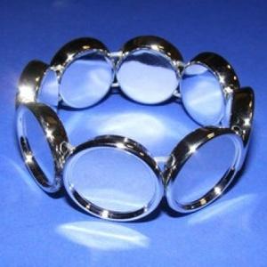 Műanyag karkötő alap (4. minta/1 db) - ezüst kerek (Ø 20 mm) (csimbo) - Meska.hu