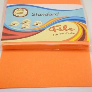 Dekorfilc (2 mm/puha) - világos narancssárga (csimbo) - Meska.hu