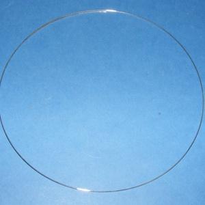 Memóriadrót - nyaklánc alap (Ø 115 mm/10 g) - platinum (csimbo) - Meska.hu