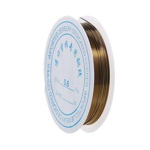 Ékszerdrót (Ø 0,6 mm/1 db) - bronz (csimbo) - Meska.hu