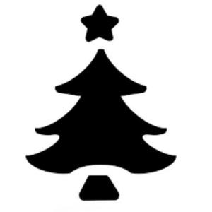 Dekorgumi- és papírlyukasztó (25. minta/1 db) - karácsonyfa - 25 mm (csimbo) - Meska.hu