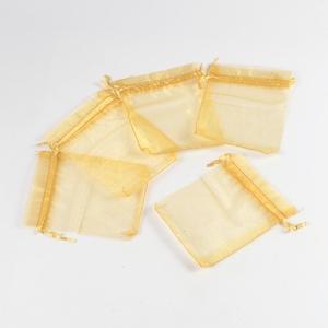 Organzatasak (10x12 cm/1 db) - arany, Textil, Varrás,  Organzatasak (10x12 cm/1 db) - arany  Organza szövetből készült anyag, jó tartású csomagolóanyag k..., Alkotók boltja