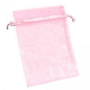 Organzatasak (9,5x11 cm/1 db) - rózsaszín, Textil, Varrás,  Organzatasak - rózsaszín  Organza szövetből készült anyag, jó tartású csomagolóanyag kiváló minősé..., Alkotók boltja