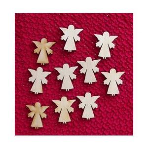 Karácsony  (9.minta/1 db) - kicsi angyal, Fa, Egyéb fa,  Karácsony (9.minta/1 db) - kicsi angyal    Mérete: 28x30 mmAnyaga: natúr rétegelt lemezAnyagvas..., Alkotók boltja
