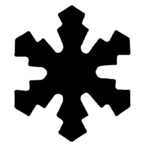 Dekorgumi- és papírlyukasztó (27. minta/1 db) - hópihe - 25 mm (csimbo) - Meska.hu