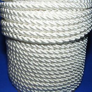 Sodrott zsinór - 5 mm (ZS0S/1 m) - fehér, Gyöngy, ékszerkellék,  Sodrott zsinór (ZS0S) - fehér  Színes nylon sodrott zsinórAjánlott karkötők, nyakláncok készítéséhe..., Meska