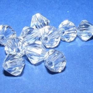 Akril gyöngy-35 (10 db) - átlátszó kristály (csimbo) - Meska.hu