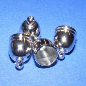 Bőrvég (449. minta/1 db) - 14x10 mm - gyöngy, ékszerkellék - Meska.hu