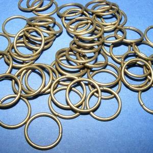 Szerelőkarika (1007/B  minta/10 db) - 14 mm, Gyöngy, ékszerkellék, Ékszerkészítés,  Szerelőkarika (1007/B minta) - szimpla - antik bronz színben  Mérete: 14x1,2 mm  Az ár 10 darab te..., Alkotók boltja