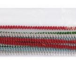 Göndör zseníliadrót (Ø 6 mm/30,5 cm) - piros (csimbo) - Meska.hu