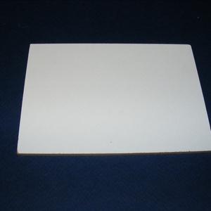 Farostlemez (28x16,5 cm/1 db) - fehér/natúr (csimbo) - Meska.hu