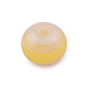 Mintás gyöngy-5 (Ø 8 mm/10 db) - citromsárga csíkos gömb (csimbo) - Meska.hu