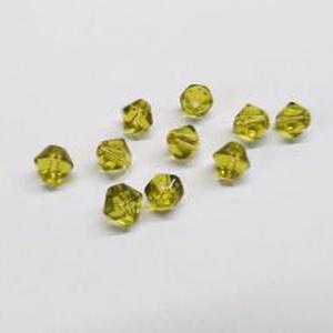 Csiszolt üveggyöngy-34 (4x4 mm/20 db) - napsárga gyémánt (csimbo) - Meska.hu