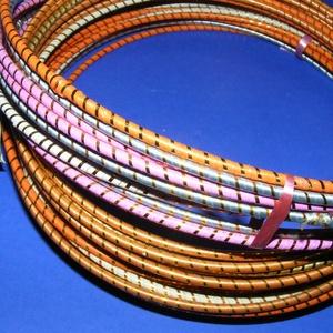 Díszített drótarika (Ø 20 cm/1 db) - rózsaszín (csimbo) - Meska.hu