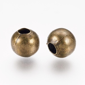 Bronz köztes (618/D minta/10 db) - Ø 6 mm (csimbo) - Meska.hu