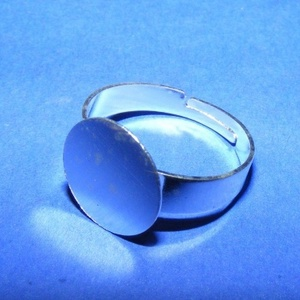 Gyűrű alap (66. minta/1 db), Gyöngy, ékszerkellék,  Gyűrű alap (66. minta) - ragasztható - ezüst színben  Mérete: 18 mm (tárcsa mérete: 15 mm)  Az ár e..., Meska