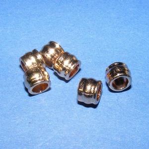 Cső-13 (5x5 mm/6 db), Gyöngy, ékszerkellék,  Cső-13 - arany színben  Mérete: 5x5 mmA furat mérete: 4 mm  Az ár 6 darab termékre vonatkozik. ..., Meska