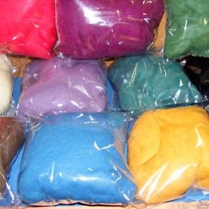 Festett gyapjú (5 g) - kék - textil - Meska.hu