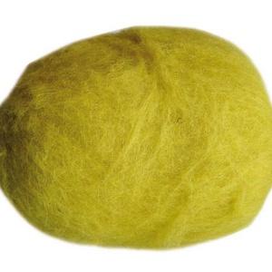 Festett gyapjú (5 g) - sárga (csimbo) - Meska.hu
