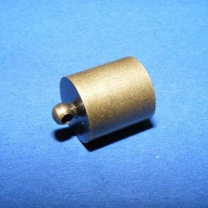 Bőrvég (41. minta/1 db) - 14x10 mm - gyöngy, ékszerkellék - Meska.hu