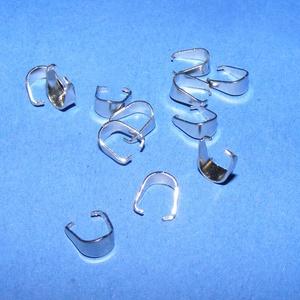 Nemesacél medálakasztó/rögzítő (STAS-30/A minta/1 db) - 7x6,5 mm - gyöngy, ékszerkellék - Meska.hu