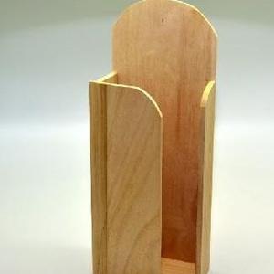 Papírzsebkendő tartó (nagy, féloldalas/1 db) - álló, Fa,  Papírzsebkendő tartó - nagy - álló - féloldalas - kínai  Mérete: 12,5x6,5x32,5 cmAnyaga: natúr fa, ..., Meska