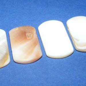 Fúrt kagyló ékszer alap (80/K  minta/4 db) - natúr (csimbo) - Meska.hu