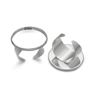 Gyűrű alap (64/B minta/1 db) , Gyöngy, ékszerkellék, Ékszerkészítés,  Gyűrű alap (64/B minta) - ragasztható, dekorálható - platinum színben  Mérete: Karika átmérő: 19 m..., Alkotók boltja