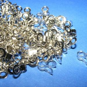 Szemes golyósláncvég (340/J minta/10 db) - 2-2,5 mm, Gyöngy, ékszerkellék,  Szemes golyósláncvég (340/J minta) - nikkel színben    Mérete: 9x5 mm; a furat 2 mm (2-2,5 mm-es lá..., Meska