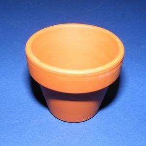 Natúr cserép (Ø 8,2 cm/1 db) - lyukas (csimbo) - Meska.hu