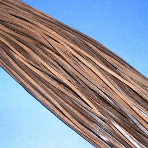 Bőrszíj - 3x1 mm (104. minta/1 db) - sötétbarna  (csimbo) - Meska.hu