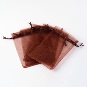 Organzatasak (10x12 cm/1 db) - barna, Textil, Varrás,  Organzatasak (10x12 cm/1 db) - barna  Organza szövetből készült anyag, jó tartású csomagolóanyag k..., Alkotók boltja