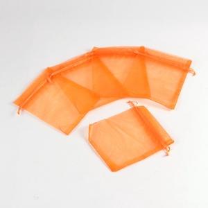 Organzatasak (10x12 cm/1 db) - narancs, Textil,  Organzatasak (10x12 cm/1 db) - narancs  Organza szövetből készült anyag, jó tartású csomagolóanyag ..., Meska