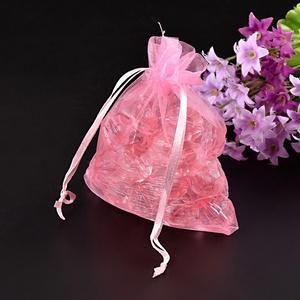 Organzatasak (10x12 cm/1 db) - rózsaszín (csimbo) - Meska.hu