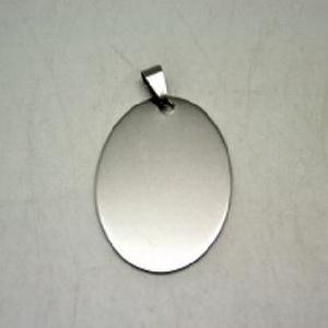 Nemesacél ovális medál (STAS-46 minta/1 db) - 43x30 mm, Gyöngy, ékszerkellék, Ékszerkészítés,  Nemesacél medál (STAS-46 minta) - oválisNemesacél (304 Stainless Steel) termék  Mérete: 43x30 mmMe..., Alkotók boltja