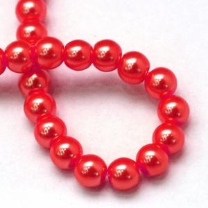 Viaszgyöngy-2 (Ø 4 mm/~ 230 db) - piros (csimbo) - Meska.hu
